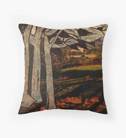 paper trees & pod birds  Throw Pillow