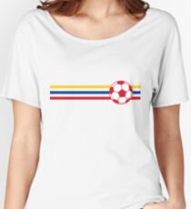 Football Stripes Colombia Women's Relaxed Fit T-Shirt