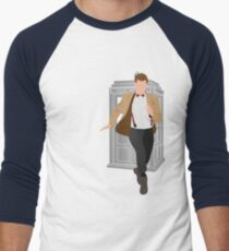 11th Doctor - Basically, Run! Men's Baseball ¾ T-Shirt