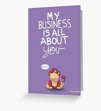 Valentine's Day Card (MONKEY) Greeting Card