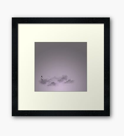 girl in the sky Framed Print