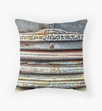 Beat Up Chevy Grille Throw Pillow