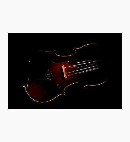 Violin in the Void  Photographic Print