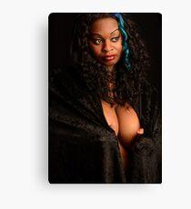 sexy plus bbw thick plussize ebony curves curvy Canvas Print