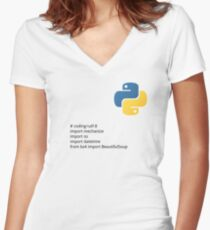 Python Women's Fitted V-Neck T-Shirt
