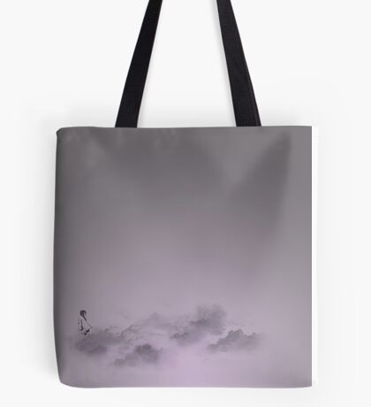 girl in the sky Tote Bag