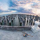 Princes Pier Fishing by Vicki Moritz