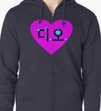 ♥♫I Love EXO-K D.O. Clothes & Stickers♪♥ Zipped Hoodie