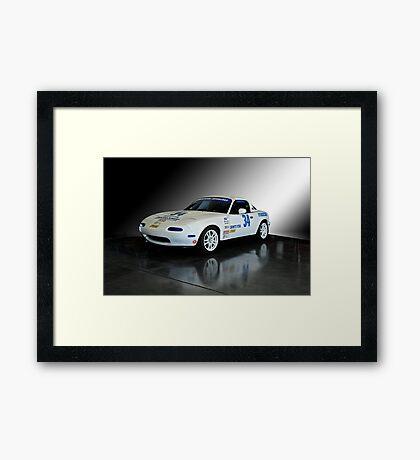1991 Mazda Miata SCCA Spec Car Framed Print