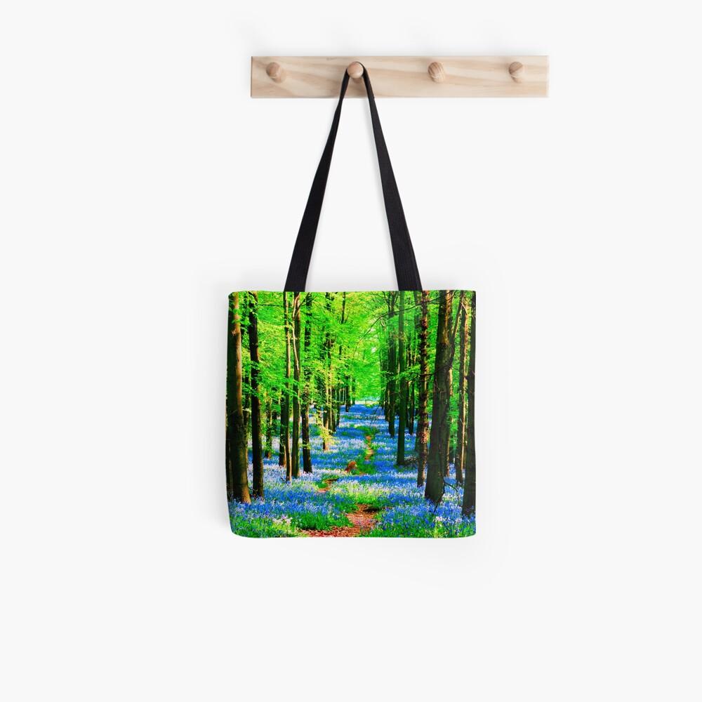 Blue Bell Wood Tote Bag
