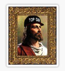 Top Gun Jesus Sticker
