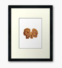 Socrates & Arnold Framed Print