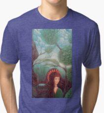 Forest Queen artwork Tri-blend T-Shirt
