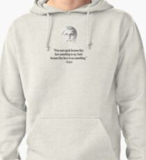Quote By Plato Pullover Hoodie
