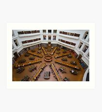 State Library Reading Room Art Print