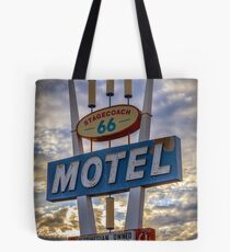 Stagecoach Motel Tote Bag