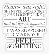Eleanor and Park - Art Sticker
