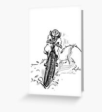 Mountain bike sheep Greeting Card