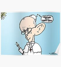 Colorado on the mind of Pope Francis webcomic Poster