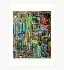 Abstract Matrix Art Print