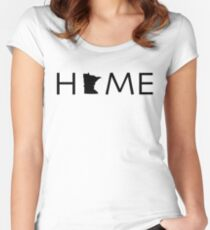 MINNESOTA HOME Women's Fitted Scoop T-Shirt