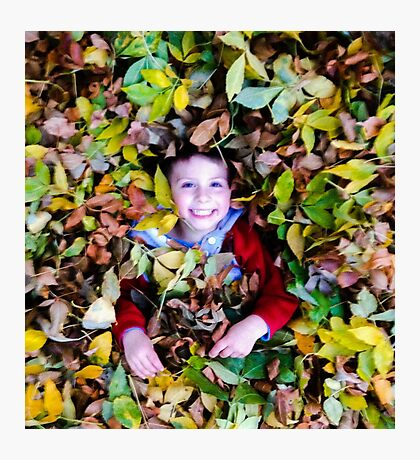 Paul in the fall Photographic Print
