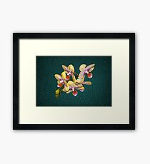 Orchid Flower Unusual Colors Fine Art Framed Print