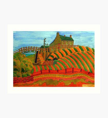 397 - SEATON SLUICE - 04 - DAVE EDWARDS - WATERCOLOUR - 2014 Art Print