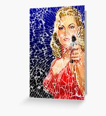 Shattered Again Greeting Card