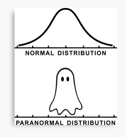 Normal Paranormal Distribution Canvas Print