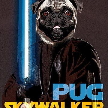 Pug Skywalker by julcenei