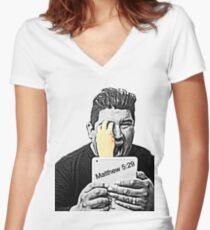 Matthew 5:29 Women's Fitted V-Neck T-Shirt