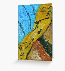 """""""A Flash Of Yellow"""" by Carter L. Shepard Greeting Card"""