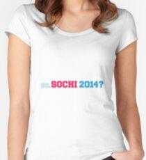 RU. Sochi 2014? Women's Fitted Scoop T-Shirt