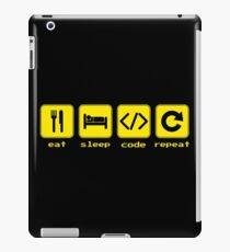 Eat Sleep Code Repeat iPad Case/Skin