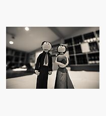 Wedding figurines Photographic Print