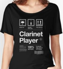 """Clarinet Player"" Label Women's Relaxed Fit T-Shirt"