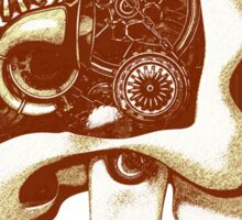 Vintage Steampunk Automaton Skull #1C Sticker