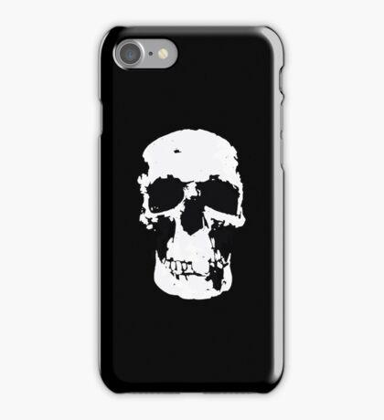 Sherlock Skull Wall Hanging On Black iPhone Case/Skin