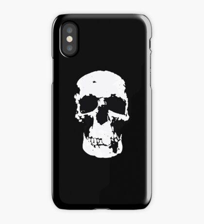 Sherlock Skull Wall Hanging On Black iPhone Case