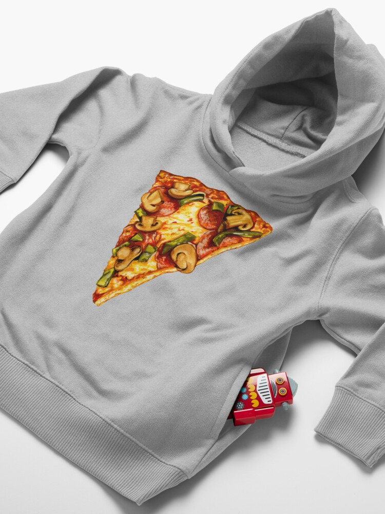 Alternate view of Pizza Pattern Toddler Pullover Hoodie