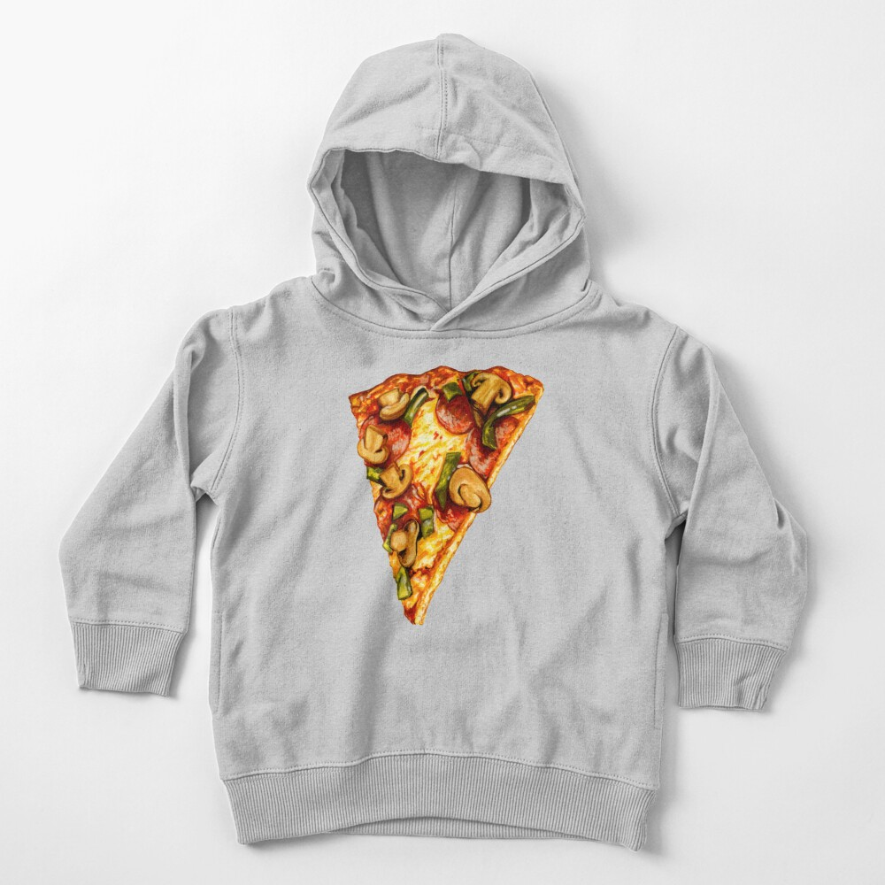 Pizza Pattern Toddler Pullover Hoodie