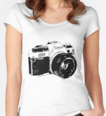 Vintage Canon Camera Women's Fitted Scoop T-Shirt