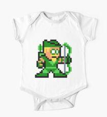 8-bit Green Arrow Short Sleeve Baby One-Piece