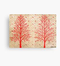 RED CEDARS ARTWORK Metal Print