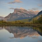 Mount Rundle, Alberta by aMillionWordsCa