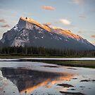 Mount Rundle on Fire, Alberta by aMillionWordsCa