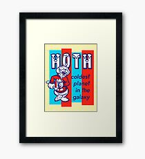 HOTH: COLDEST IN THE GALAXY Framed Print