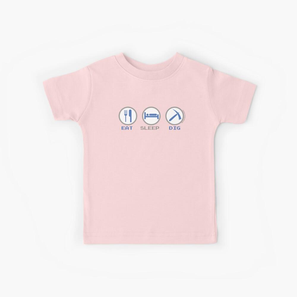 Eat Sleep Dig Kids T-Shirt