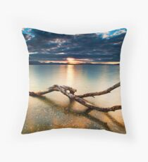 Kaimai Gold Throw Pillow